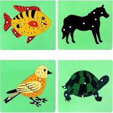 Bảng ghép tranh Montessori hình con chim đồ chơi giáo dục