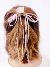 Dây buộc tóc nơ hoa hồng điệu đà