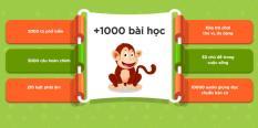 ứng dụng học ngoại ngữ/học tiếng Anh monkey junior