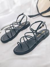 Giày sandal xỏ ngón đan chéo mới 091