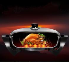 Bếp Nướng Lẩu Đa Năng, Nồi Chiên Không Cần Dầu, Bếp rán, nướng, ăn lẩu-người sử dụng có thể nấu mọi món ăn mà gia đình yêu thích chỉ cần 1 dụng cụ bếp đa năng-BH uy tín chất lượng