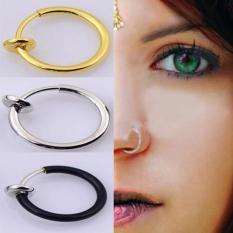 Khuyên tai nam nữ kẹp vành khoen tròn không cần bấm lỗ