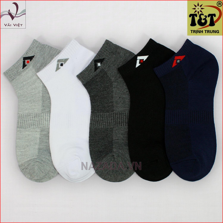 Bộ 5 đôi vớ cổ ngắn (Vải Việt Shop)-Hãng phân phối chính thức