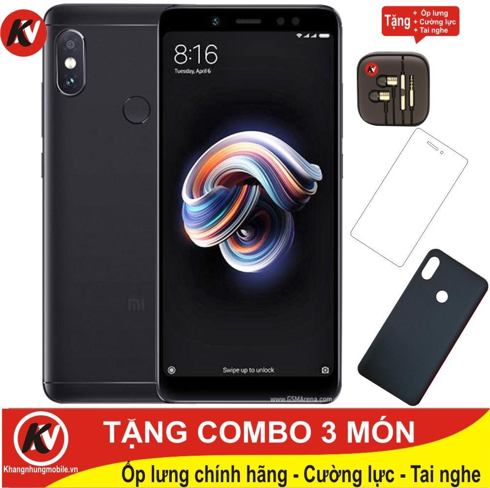 Xiaomi Redmi Note 5 Pro 64GB Ram 6GB Kim Nhung (Đen) – Hàng nhập khẩu + Ốp lưng + Cường lực + Tai nghe Đang Bán Tại Kim Nhung Mobile