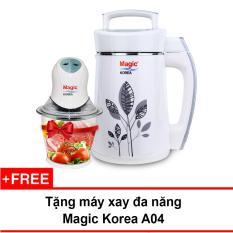 Máy làm sữa đậu nành Magic Korea A68 + Tặng máy xay thực phẩm đa năng cối thủy tinh, 02 lưỡi dao kép Magic Korea A04 (1.5 lít)
