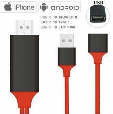 Cáp HDMI đa năng cho Iphone, samsung,Oppo, Type-c kết nối âm thanh và hình ảnh lên ti vi dài 1M