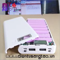 Box sạc dự phòng 8 cell Hiển thị LCD