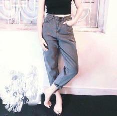 Quần Jean Nữ Bunny Boutique Baggy Legging Xám