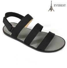 Giày sandal 3 quai ngang nam thời trang Everest EV12 (Đen) A253 – A252 Thời Trang Everest