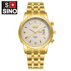 Đồng hồ nam SINO JAPAN dây thép không gỉ S8281 – Tặng pin & hộp đẹp