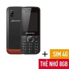 ĐTDĐ Bavapen B42 2SIM + SIM 4G Đời không phải chờ + Thẻ Micro SD 8GB