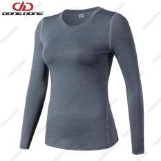 Áo thể thao NỮ dài tay – D2019, áo tập Gym Nữ thoáng khí, siêu nhẹ chất vải cao cấp – DONGDONG