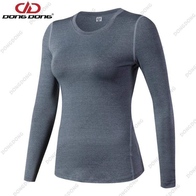 Áo thể thao NỮ dài tay - D2019, áo tập Gym Nữ thoáng khí, siêu nhẹ chất vải cao cấp...