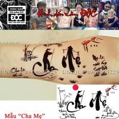 Troll phụ huynh cực bá đạo bằng mẫu xăm CHA MẸ – Unique CM14x21cm