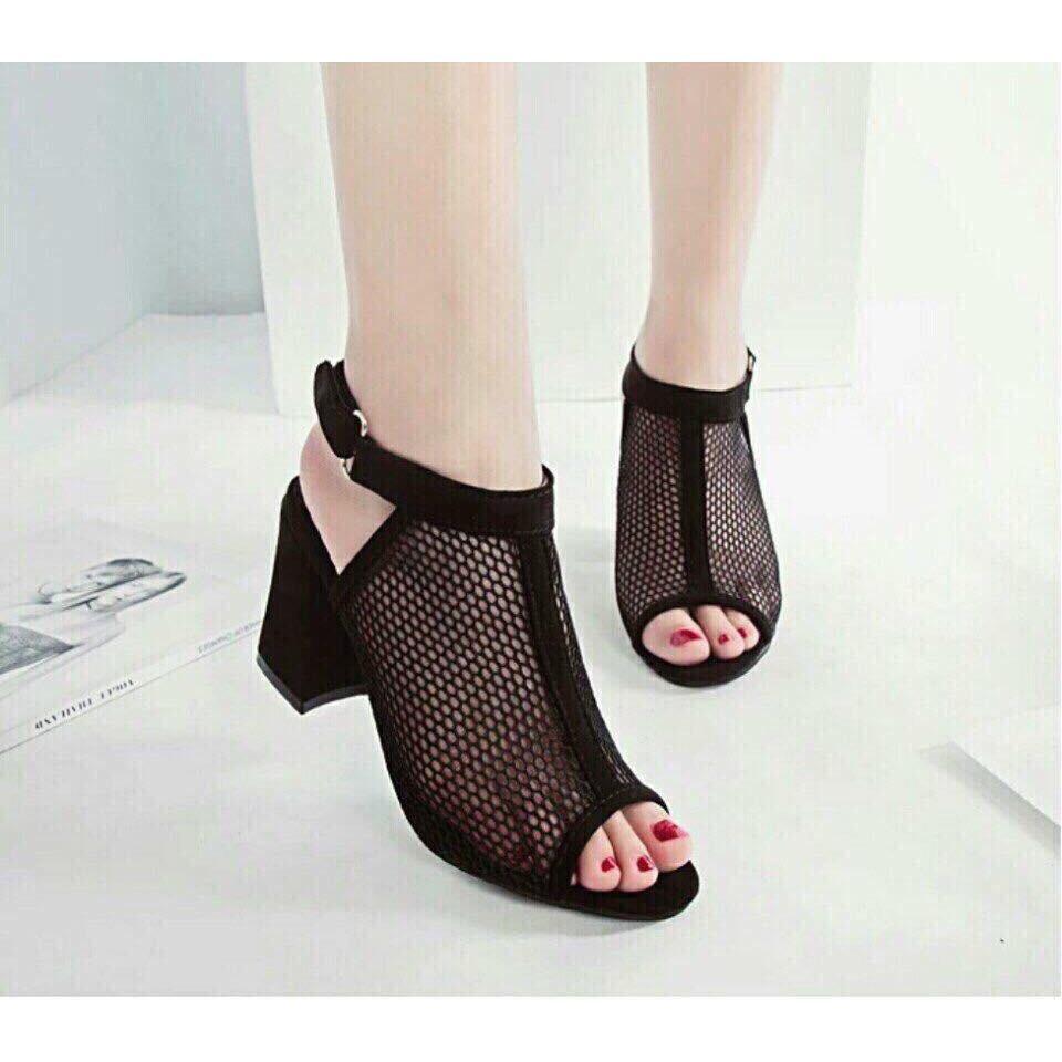 giày lưới cao gót (8cm)