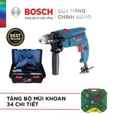 Bộ máy khoan động lực Bosch GSB 550 FREEDOM 90 chi tiết kèm Bộ Mũi Khoan Xline 34 Chi Tiết