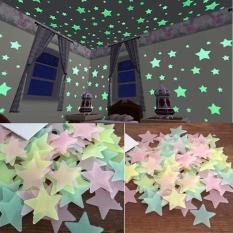 100 ngôi sao dán tường phát sáng dạ quang trong tối