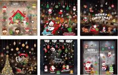 Combo 2 Miếng Decal Trang Trí Giáng Sinh Và Noel