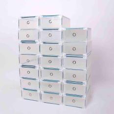 Combo 5 hộp nhựa cứng có viền đựng giày chống bụi
