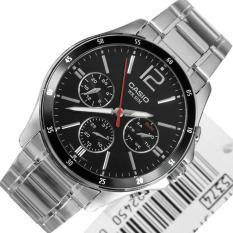 Đồng hồ nam dây thép không rỉ Casio MTP-1374D-1AVDF (Bạc)