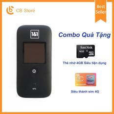 Bộ phát wifi từ sim 3G/4G ZTE MF65 – Phiên bản Plus (Đen)- Tặng Siêu Thánh Sim + Thẻ nhớ 4GB