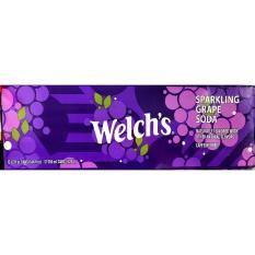 Thùng 12 Lon Nước Ngọt Nho Welch's Sparkling Grape Soda (12x355ml)
