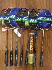 Bô 2 vợt cầu lông yonex khuyến mãi hộp basao 10 quả
