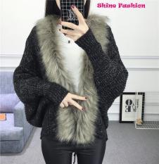 Áo len cổ lông cừu