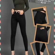 Quần Jean Nữ Lưng Cao Chất Liệu Đẹp ST59 (đen trơn) Có Size Đại 31-34