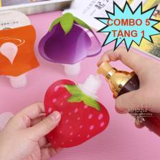 Combo 5 Tặng 1. Túi chiết mỹ phẩm hình trái cây ngộ nghĩnh