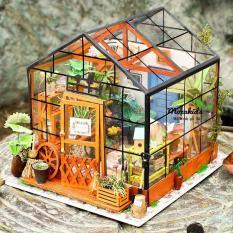 Đồ chơi lắp ráp gỗ 3D Mô hình DIY Doll House Kit Cathy is Flower House kèm đèn LED – Nhà búp bê | Đồ chơi búp bê | Đồ chơi lắp ghép | Đồ chơi cho bé gái | Thế giới đồ chơi | Thế giới tí hon | Quà tặng sinh nhật – Tặng kèm đèn LED trang trí