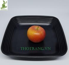 Combo 2 Dĩa vuông sâu đựng đồ ăn rất đẹp kiểu BBQ Hàn Quốc 20*20 cm 140159