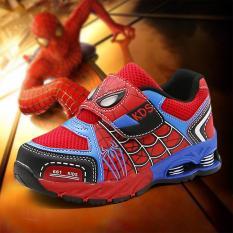 Giày thể thao siêu nhân người nhện cho bé full size full box Size 26 đến 35 Spider man 661 Kids V44