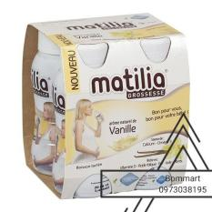Sữa bầu pha sẵn Matilia vị vanile (4×200ml)