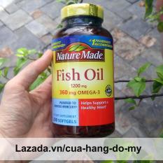 Dầu Cá Nature Made Fish Oil 1200mg 360mg Omega 3 – 200 viên giúp sáng mắt, đẹp da, ngừa ung thư