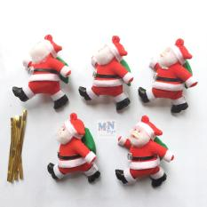 Set 5 ông già Noel cao 9cm trang trí Giáng sinh