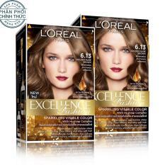 Bộ 2 kem nhuộm dưỡng tóc màu thời trang L'Oreal Paris Excellence Fashion – Màu 6.13