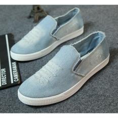 Giày luời vải bò thời trang nam – GB3 ( xanh )