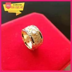 Nhẫn lông voi bạc Thái mạ vàng 24k