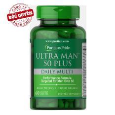 Dinh dưỡng tăng cường sức khỏe cho nam giới trên 50 tuổi Vitamin và khoáng chất tổng hợp Puritan's Pride Ultra Man 50 Plus Daily Multi 60 viên HSD 07/2021