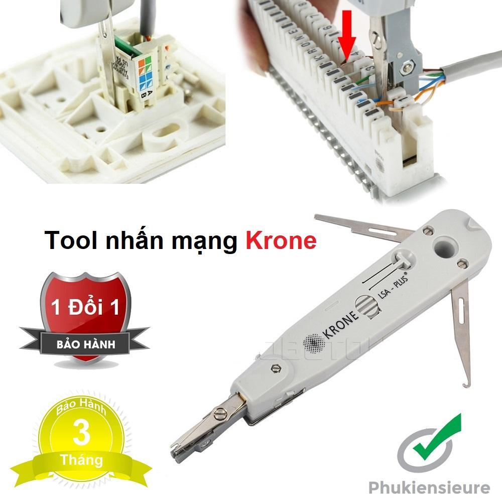 Tool nhấn mạng Krone trắng