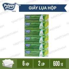 Combo 6 hộp giấy lụa hộp Pulppy Hương Trà