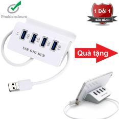 Hub Usb OTG cao cấp kết nối chuột và bàn phím cùng lúc với điện thoại