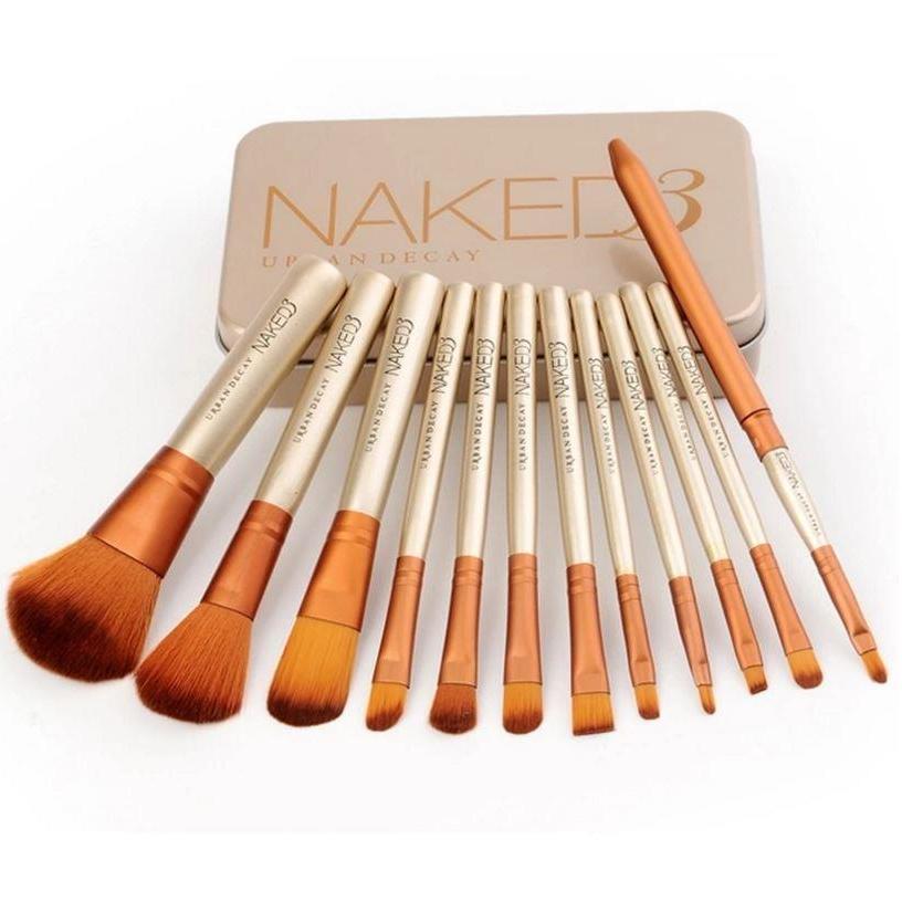 Bộ 12 cọ trang điểm cá nhân Naked 3 Sang Trọng