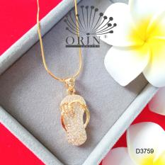 Dây chuyền chiếc dép đính đá dạng dây mì thiết kế cao cấp Orin D3759