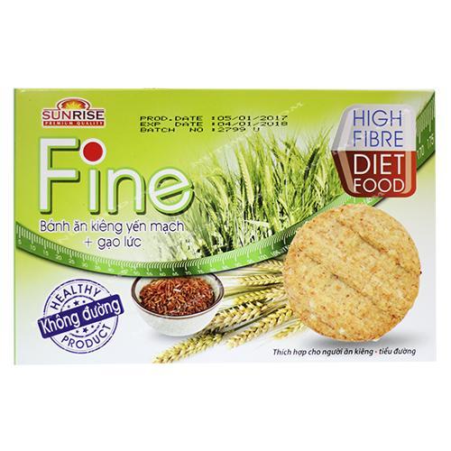 Bánh ăn kiêng yến mạch + gạo lức Fine