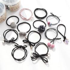 Set 12 dây buộc tóc kèm hộp cao cấp