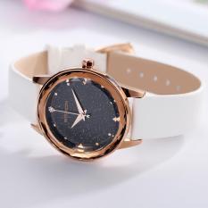 Đồng hồ nữ SANDA dây da mềm mặt phủ nhũ đính đá lấp lánh MDH-SD229