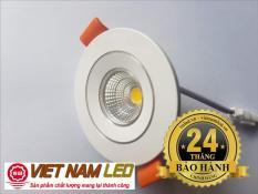 Đèn Led âm trần 5W COB kính trong, sáng trắng
