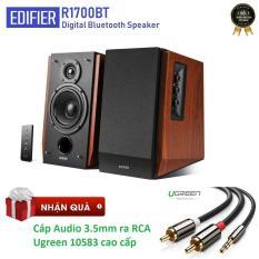 Loa Edifier R1700BT (Nâu) – Tặng cáp Audio 3.5mm ra RCA hoa sen cao cấp
